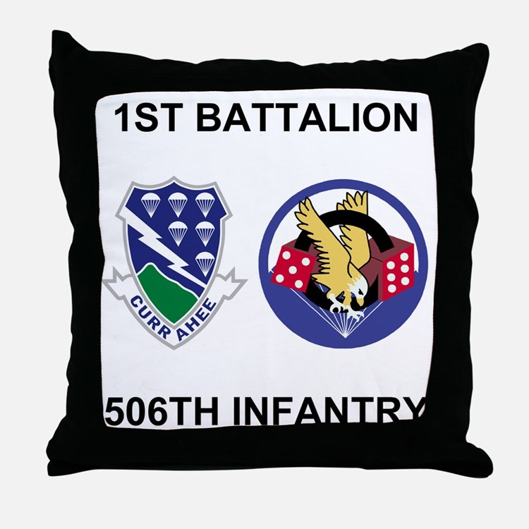 Army-506th-Infantry-BN1-Currahee-Para Throw Pillow