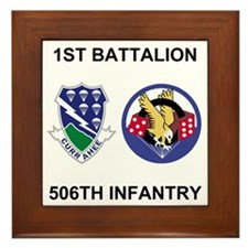 Army-506th-Infantry-BN1-Currahee-Parad Framed Tile