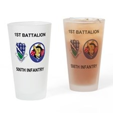 Army-506th-Infantry-BN1-Currahee-Pa Drinking Glass