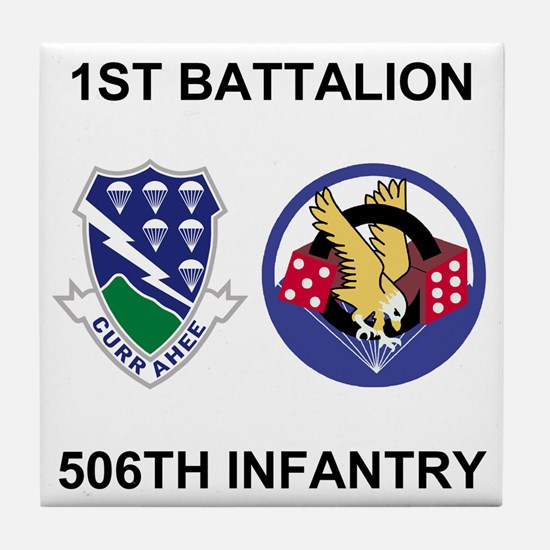 Army-506th-Infantry-BN1-Currahee-Para Tile Coaster