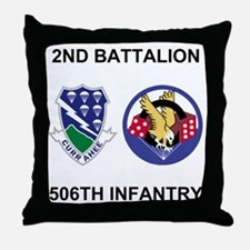 Army-506th-Infantry-BN2-Currahee-Para Throw Pillow