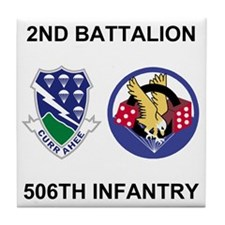 Army-506th-Infantry-BN2-Currahee-Para Tile Coaster