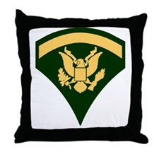 Army-SP5-Green Throw Pillow