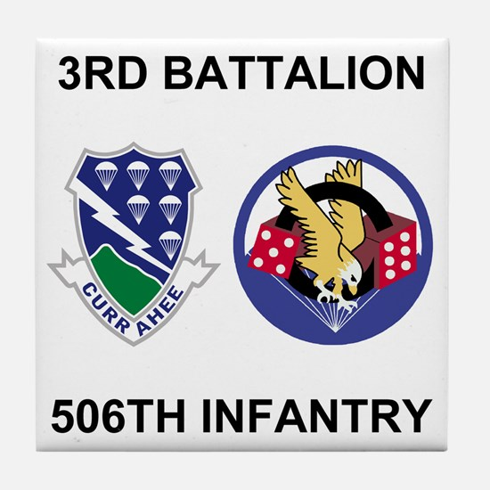 Army-506th-Infantry-BN3-Currahee-Para Tile Coaster