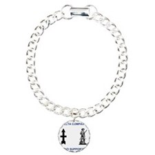 ARNG-132nd-Support-Bn-Co Charm Bracelet, One Charm