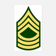 Army-MSG-Green Sticker (Rectangle)