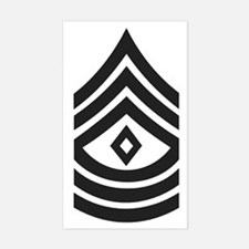Army-1SG-Subdued Sticker (Rectangle)