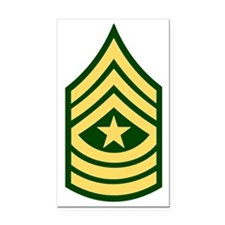 Army-SGM-Green Rectangle Car Magnet