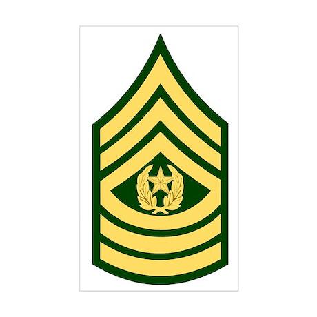 Army-CSM-Green Sticker (Rectangle)