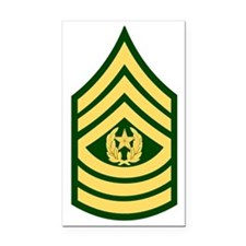 Army-CSM-Green Rectangle Car Magnet
