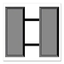 "Capt-Subdued Square Car Magnet 3"" x 3"""