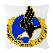 Army-101st-Airborne-Div-DUI-Bo Woven Throw Pillow