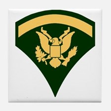 Army-SP5-Green-Four-Inches Tile Coaster