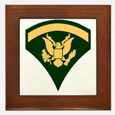 Army-SP5-Green-Four-Inches Framed Tile