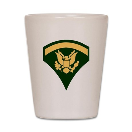Army-SP5-Green-Four-Inches Shot Glass