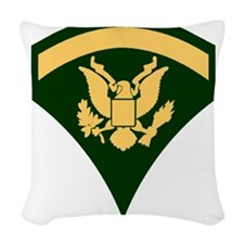 Army-SP5-Green-Four-Inches Woven Throw Pillow