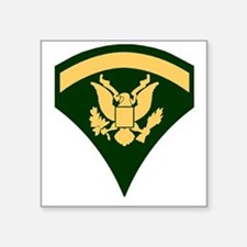 """Army-SP5-Green-Four-Inches Square Sticker 3"""" x 3"""""""