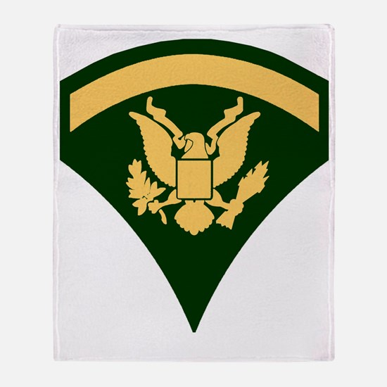 Army-SP5-Green-Four-Inches Throw Blanket