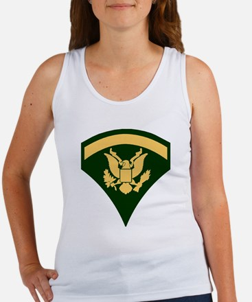 Army-SP5-Green-Four-Inches Women's Tank Top