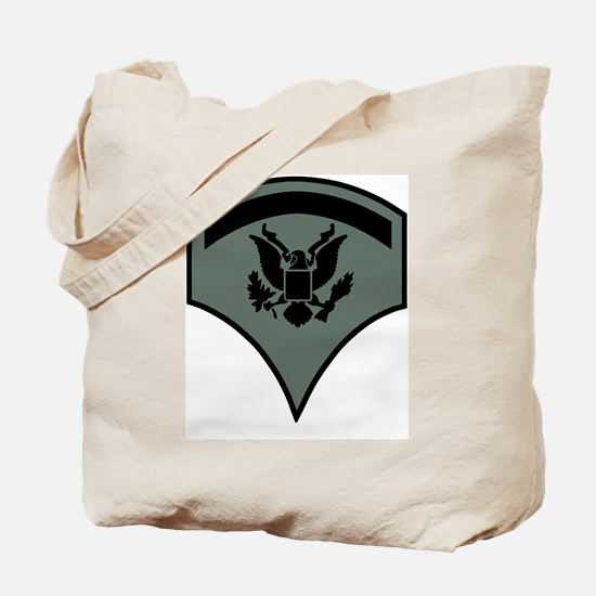Army-SP5-Subdued-Green Tote Bag