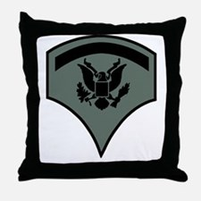Army-SP5-Subdued-Green Throw Pillow