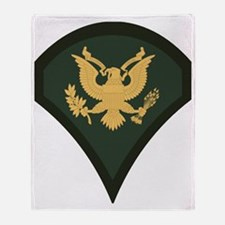 3-Army-SP4-Green-Four-Inches Throw Blanket