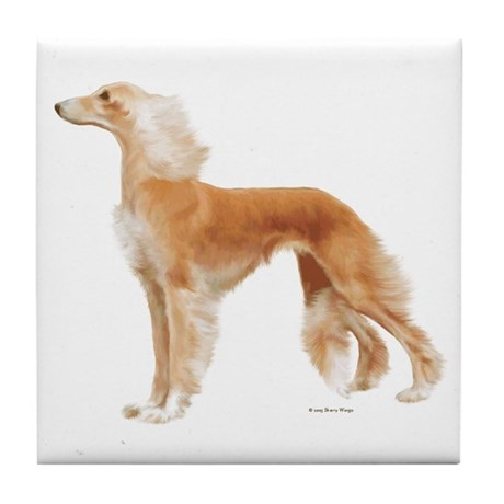 """Saluki"" Tile Coaster"