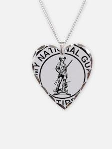 ARNG-Retired-Ring-Black-White Necklace