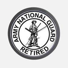 ARNG-Retired-Ring-Black-White Wall Clock