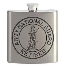 ARNG-Retired-Ring-Black-White Flask