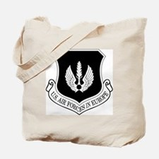 USAF-USAFE-Shield-BW-Bonnie Tote Bag