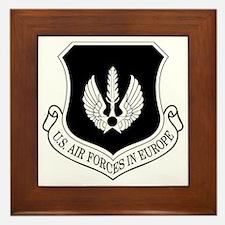 USAF-USAFE-Shield-BW-Bonnie Framed Tile