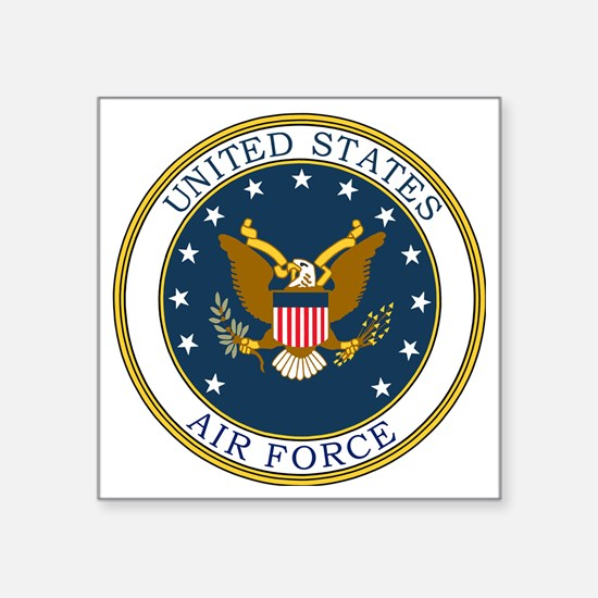 "USAF-Patch-3 Square Sticker 3"" x 3"""