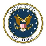 Air force Round Car Magnets