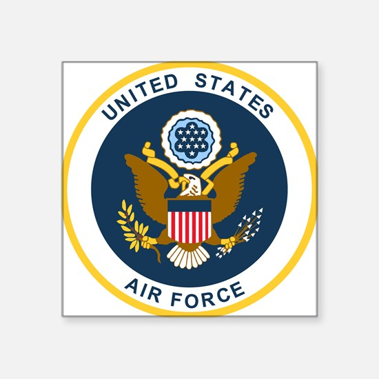 "USAF-Patch-2 Square Sticker 3"" x 3"""