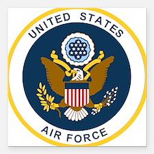 "USAF-Patch-2 Square Car Magnet 3"" x 3"""