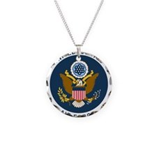 USAF-Patch-2 Necklace Circle Charm