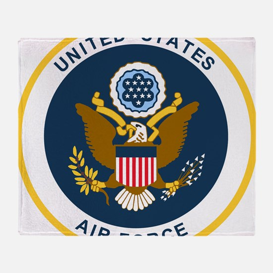 USAF-Patch-2 Throw Blanket