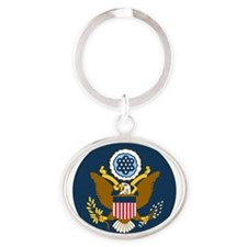 USAF-Patch-2 Oval Keychain