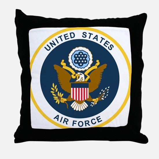 USAF-Patch-2 Throw Pillow