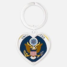 USAF-Patch-2 Heart Keychain