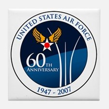 USAF-60th-Anniversary Tile Coaster