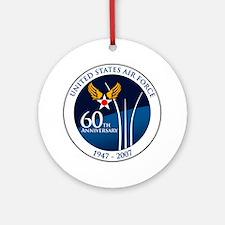 USAF-60th-Anniversary Round Ornament