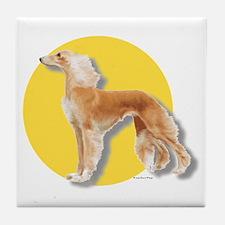 """""""Spotlight on Saluki"""" Tile Coaster"""