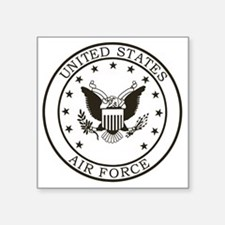 "USAF-Patch-3-Midnight-Blue Square Sticker 3"" x 3"""