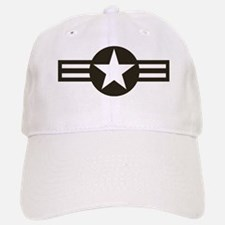 USAF-Roundel-Black Baseball Baseball Cap