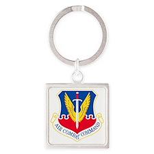 USAF-ACC-Shield Square Keychain