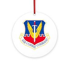 USAF-ACC-Shield Round Ornament