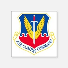 "USAF-ACC-Shield Square Sticker 3"" x 3"""