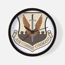 USAF-ACC-Shield-Desert Wall Clock